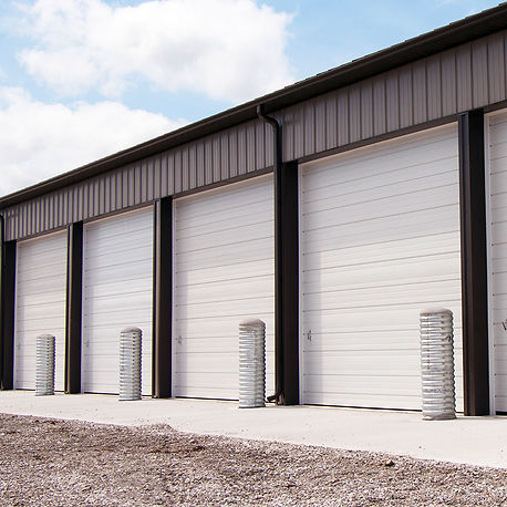 non insulated sectional steel doors
