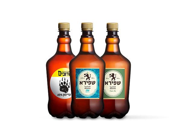מארז בירות בוטיק ישראליות | 2.7 ליטר