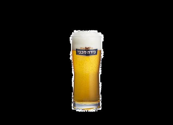כוס בירה זכוכית מכבי