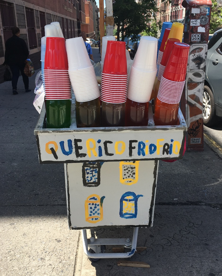 One of the most charming shaved ice carts in Washington Heights
