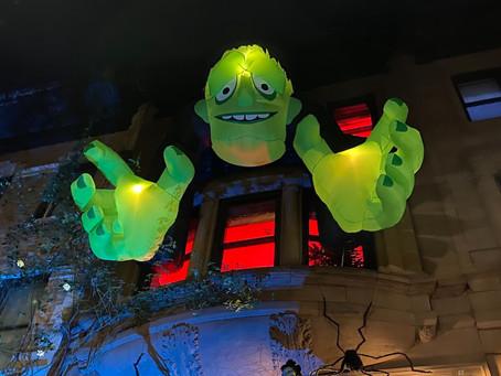This beautiful Harlem street always has the best Halloween decorations