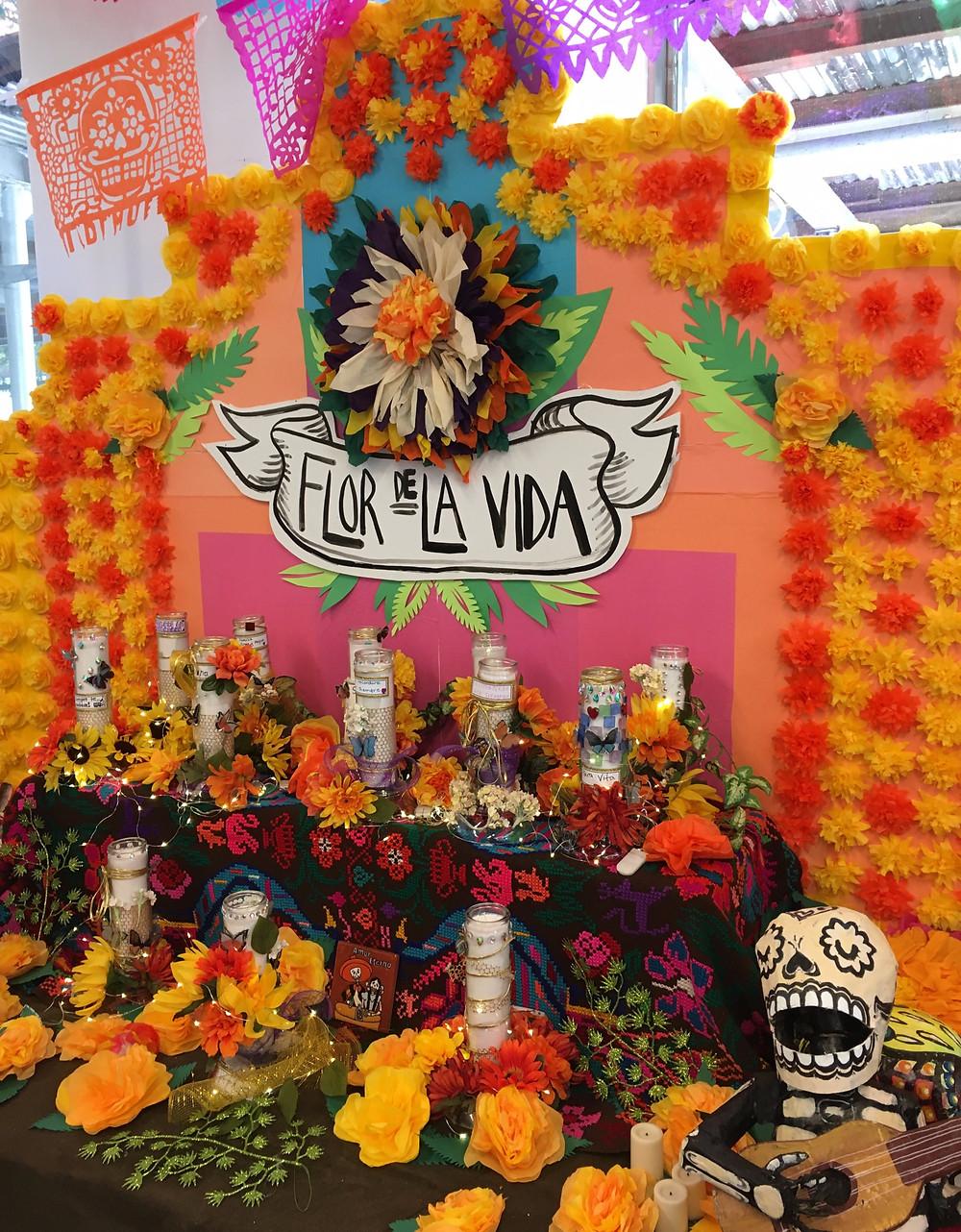 El Museo's spectacular Día de los Muertos altar, Flor de la Vida, was created by artist Cievel Xicohtencatl