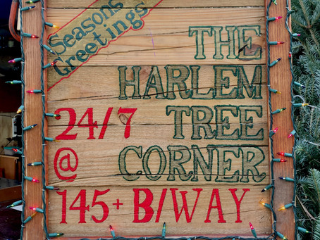 The Harlem Tree Corner is back and just got its Christmas trees
