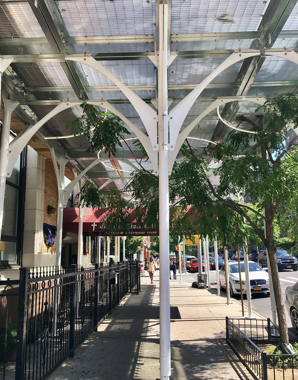 Urban Umbrella's pretty scaffolding comes to Harlem