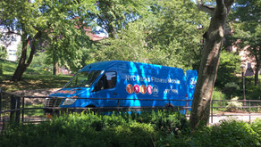 The city's roving fitness van is here and ready to make you sweat