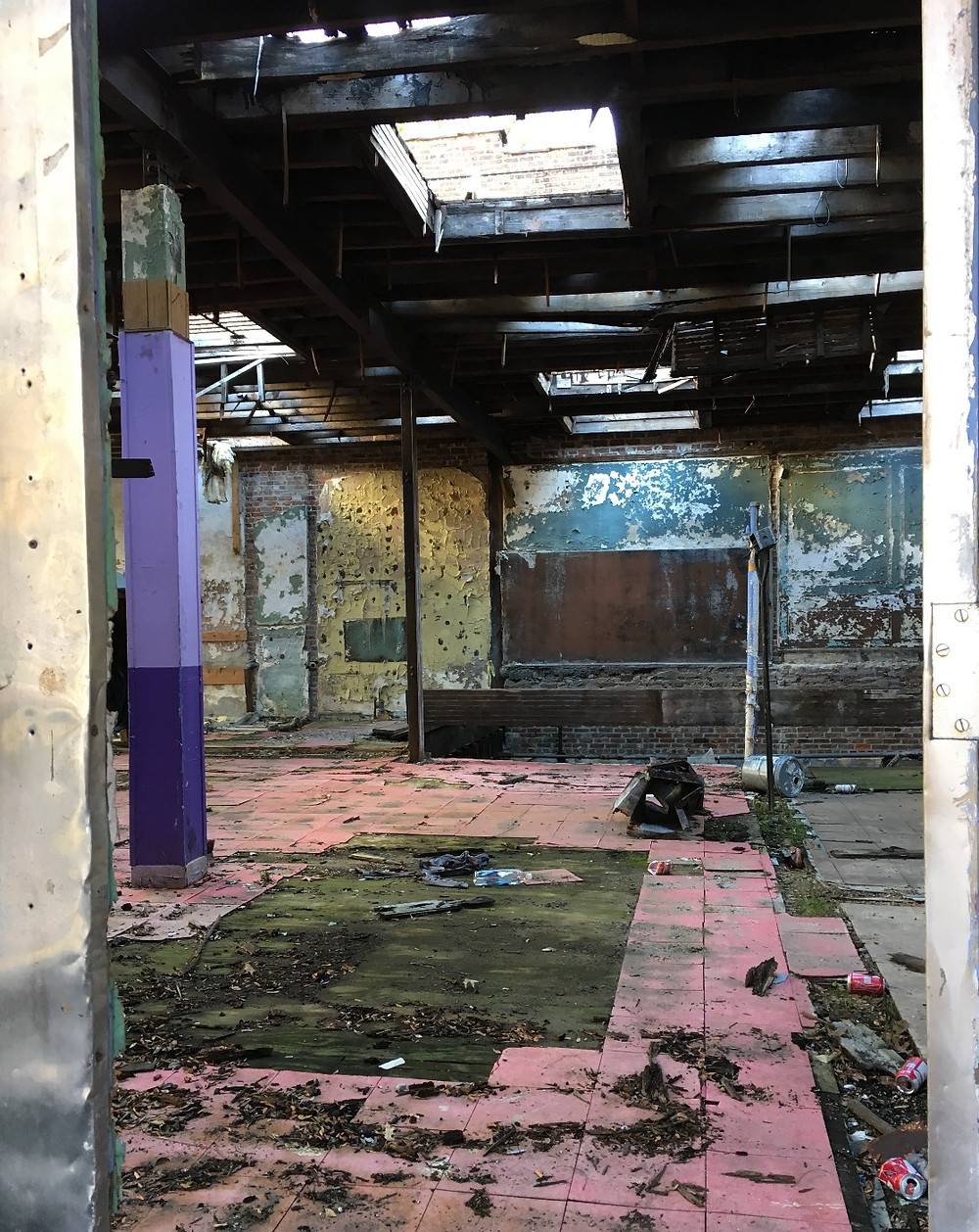 The remains of what was once Childs Memorial Temple Church