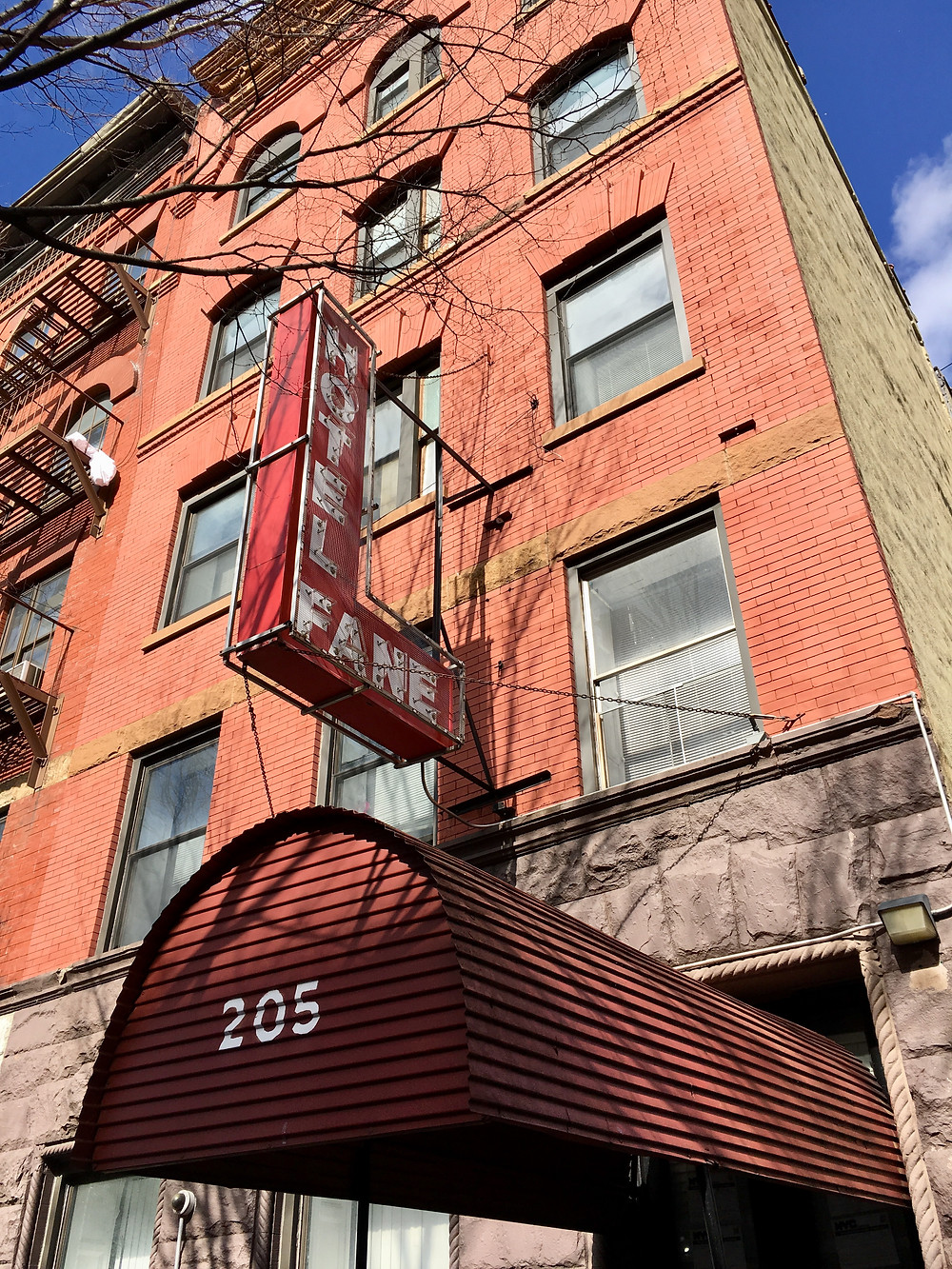 The Hotel Fane at 205 West 135th used to be listed in The Green Book