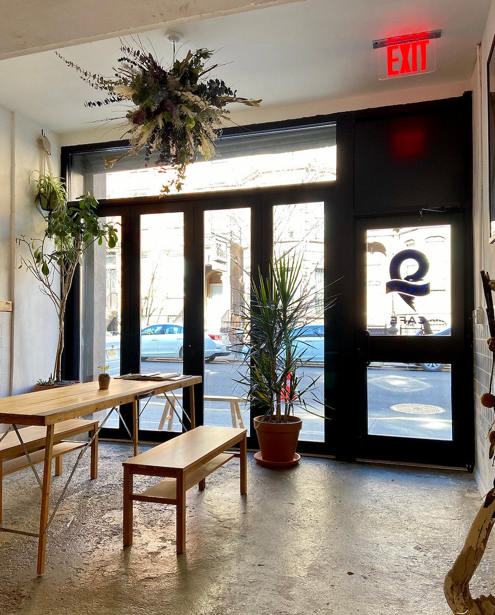 New Harlem coffee shop 9 Tails is located on the ground floor of a historic brownstone