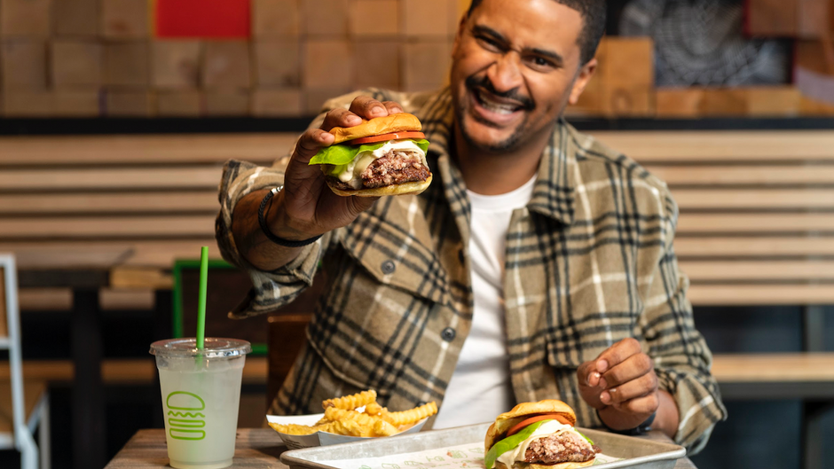 """Get your hands on chef JJ Johnson's """"Little J's"""" burger at the Harlem Shake Shack for one day only"""