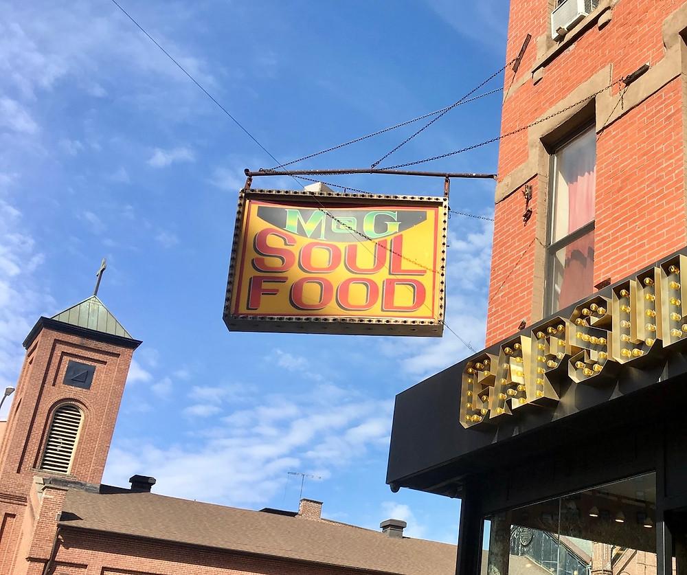 M&G Diner sign on 125th Street in Harlem