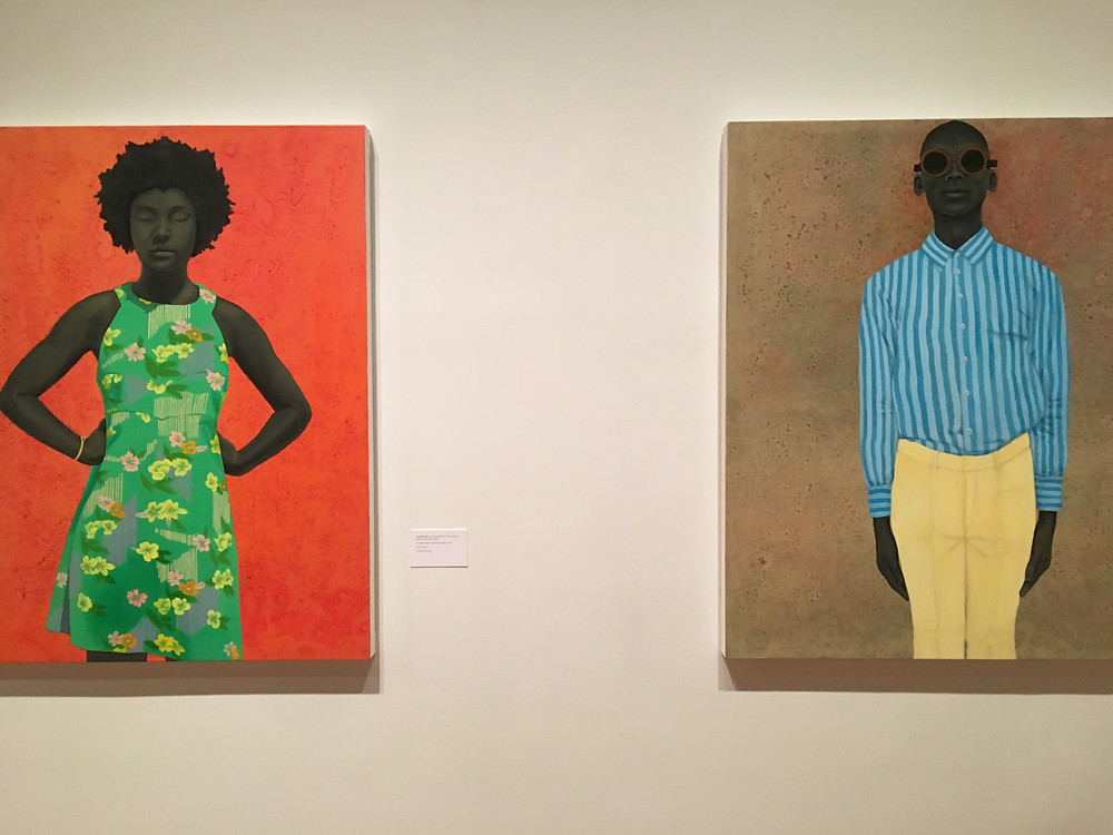 Two portraits by Amy Sherald at The Studio Museum of Harlem