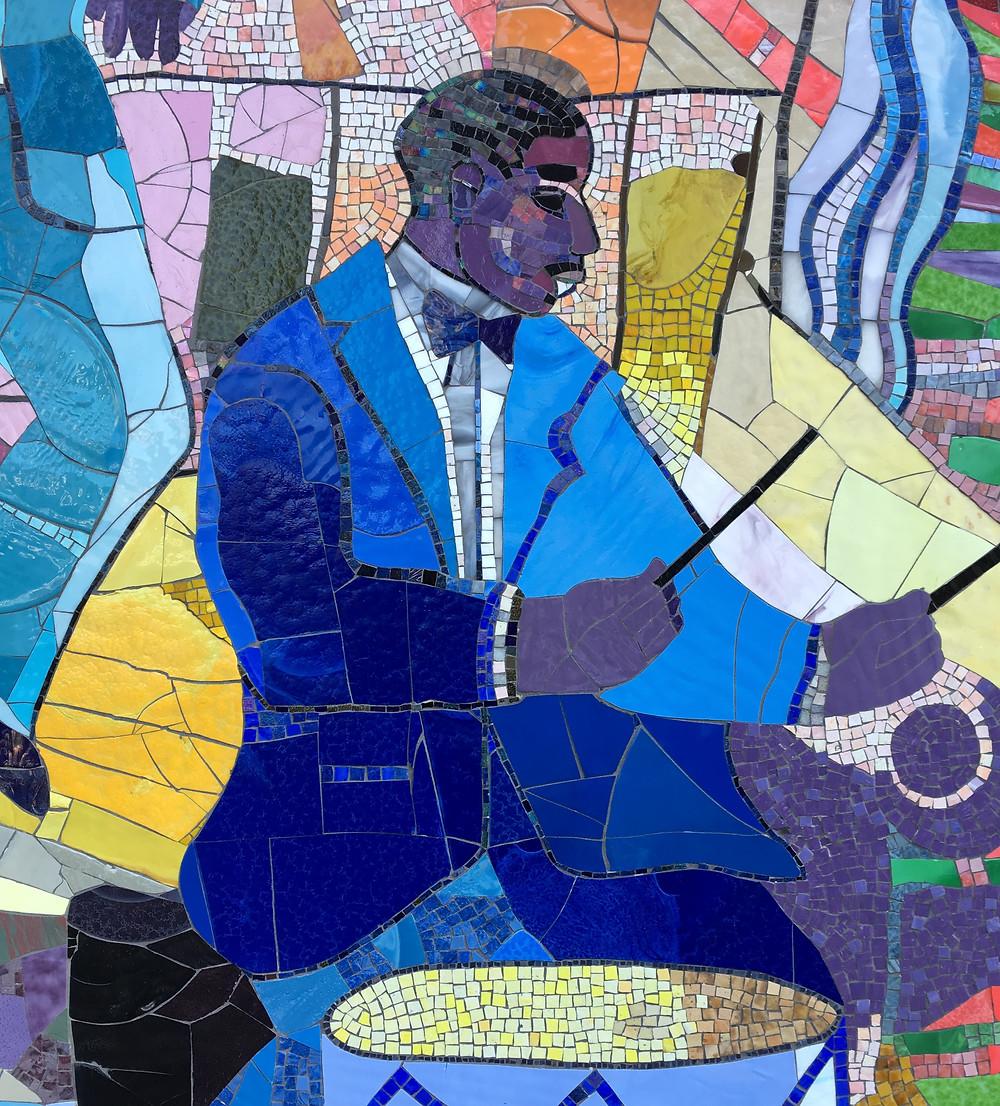 "Detail of ""Spirit of Harlem"" by Louis Delsarte"