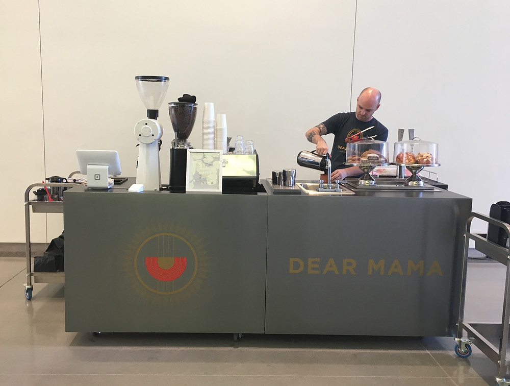 The Dear Mama coffee cart in West Harlem