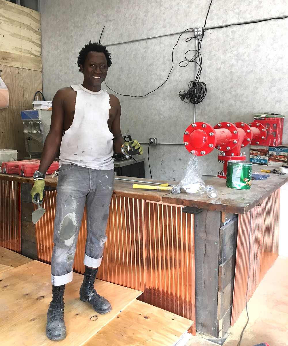 Abdel Ouedraogo, one of the owners of Ouaga, a new sports bar coming to Harlem