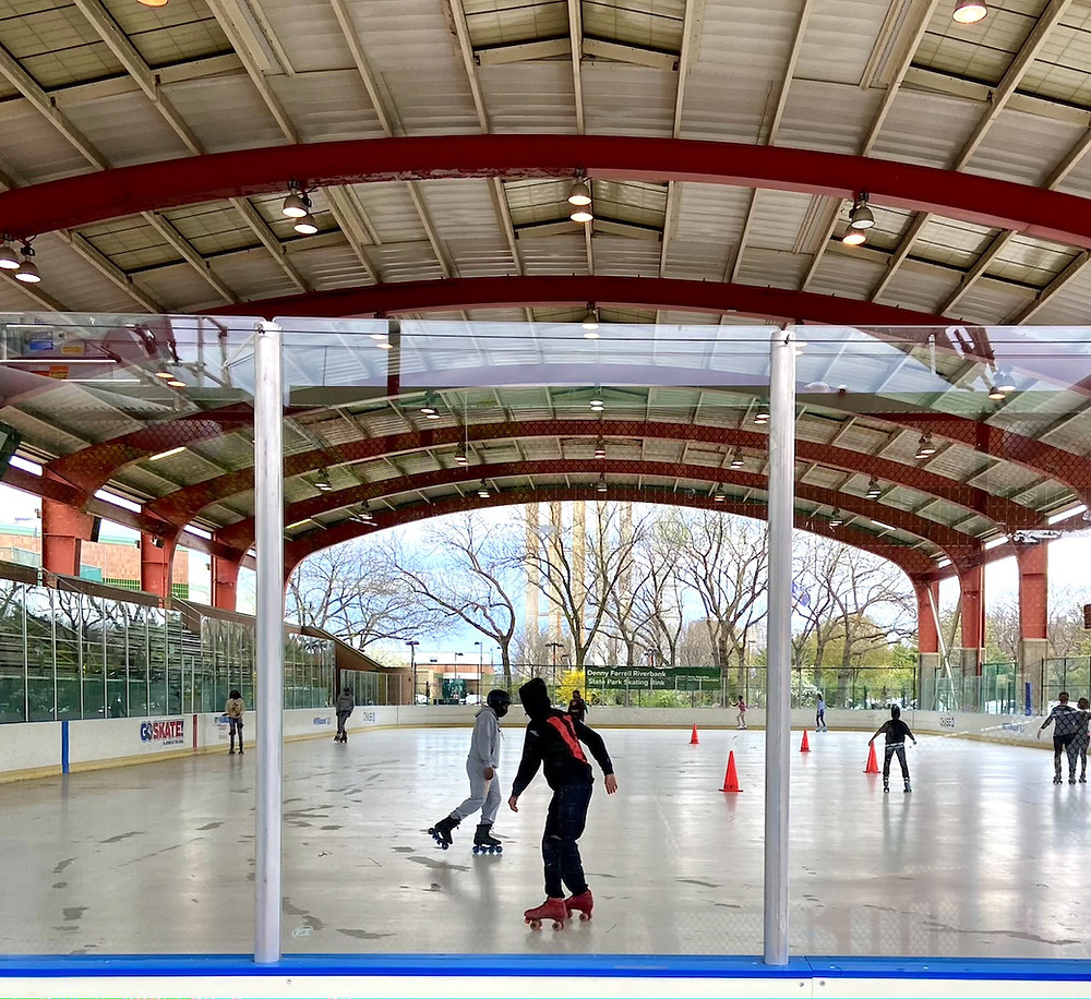 The roller skating rink at Riverbank State Park is back open