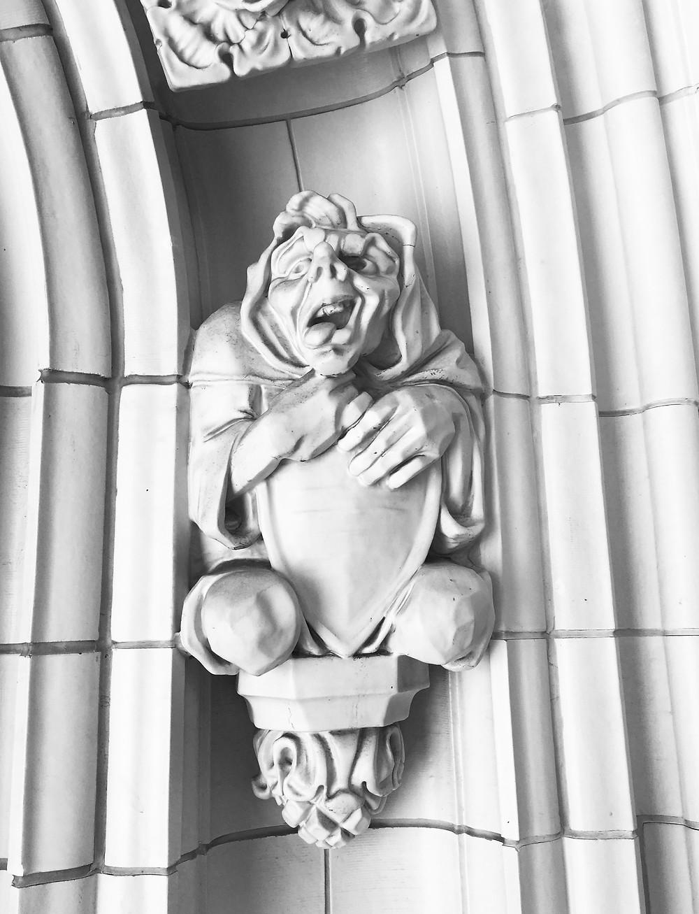 A creepy gargoyle at the City College of New York