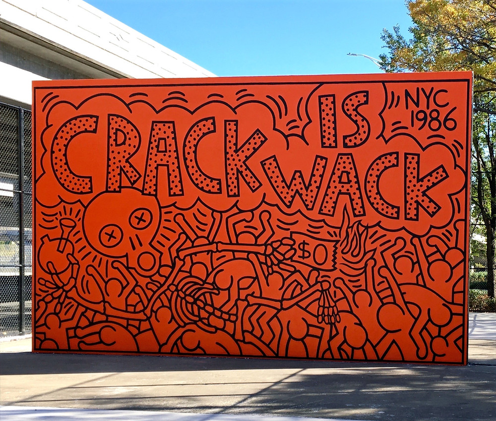 Keith Haring's recently refurbished 'Crack Is Wack' mural in East Harlem reopened to the public