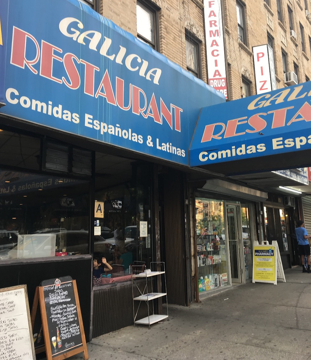 Galicia Restaurant in Washington Heights