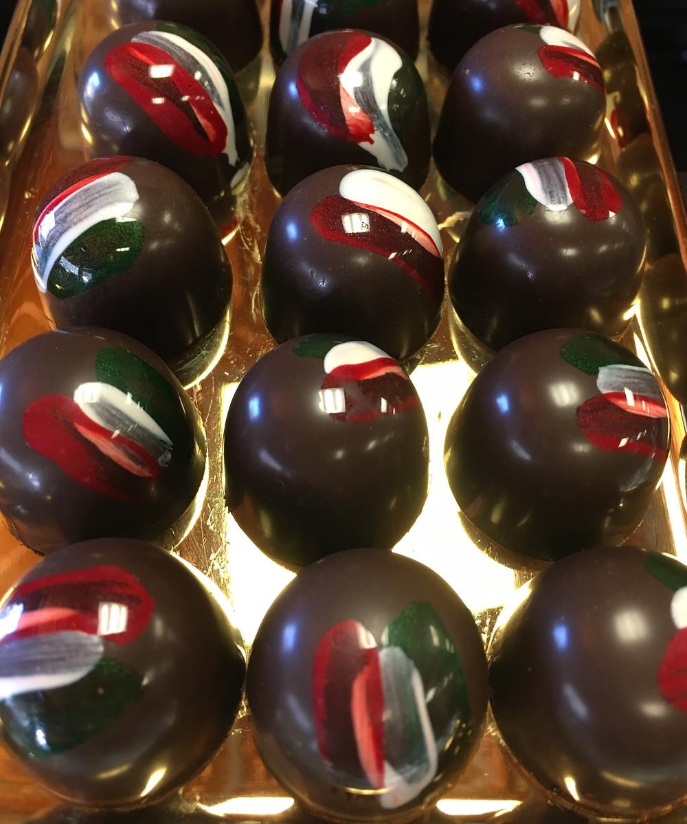 Chocolate bon bons at the Harlem Chocolate Factory