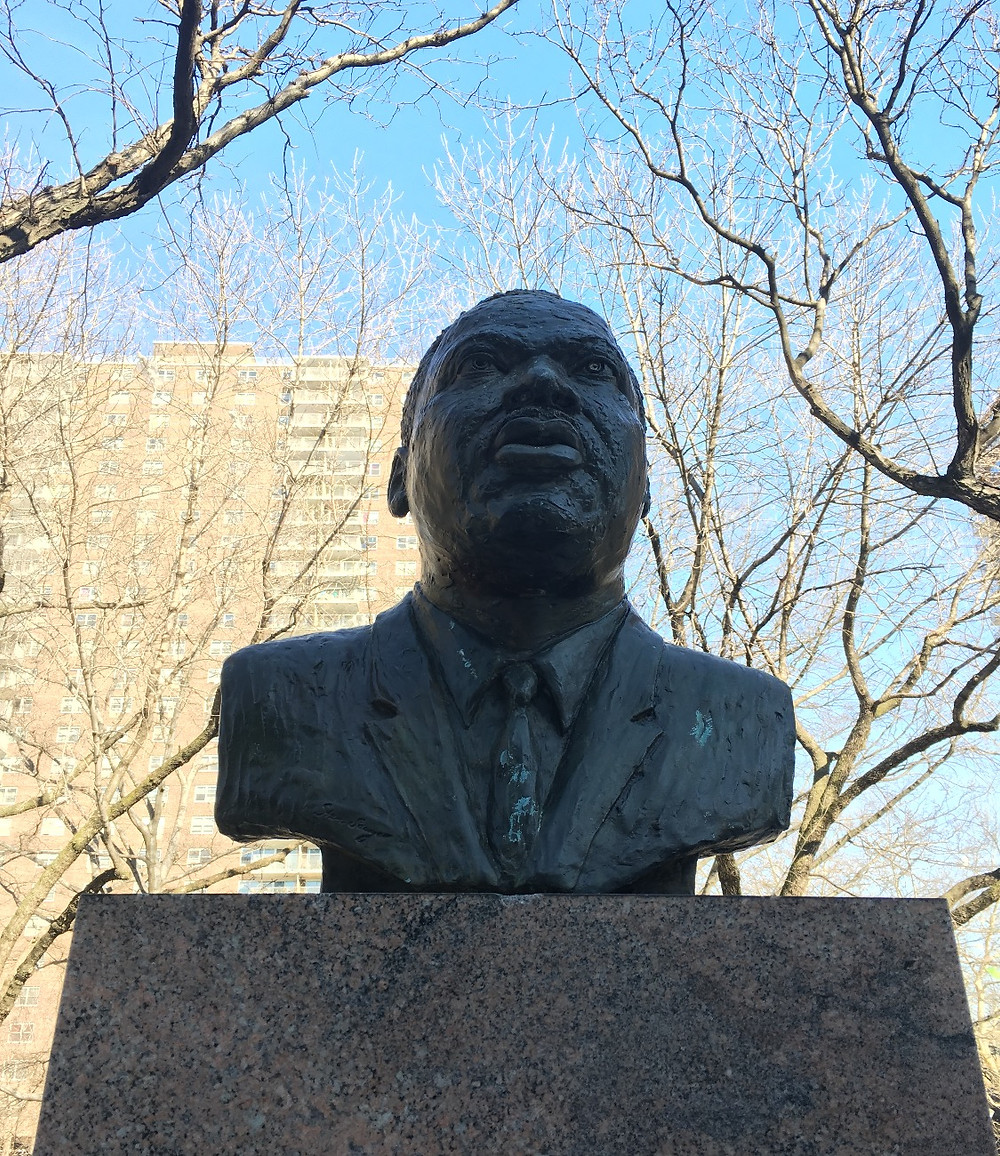 Harlem's only Martin Luther King Jr. statue