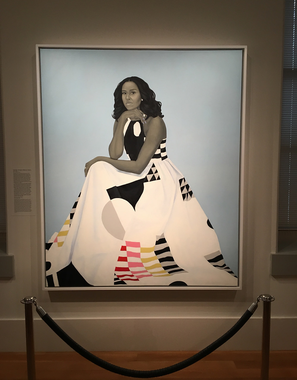 Amy Sherald's portrait of Michelle Obama