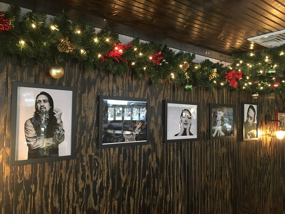 A tribute wall at Hilltop Park Alehouse honors the neighborhood's biggest stars