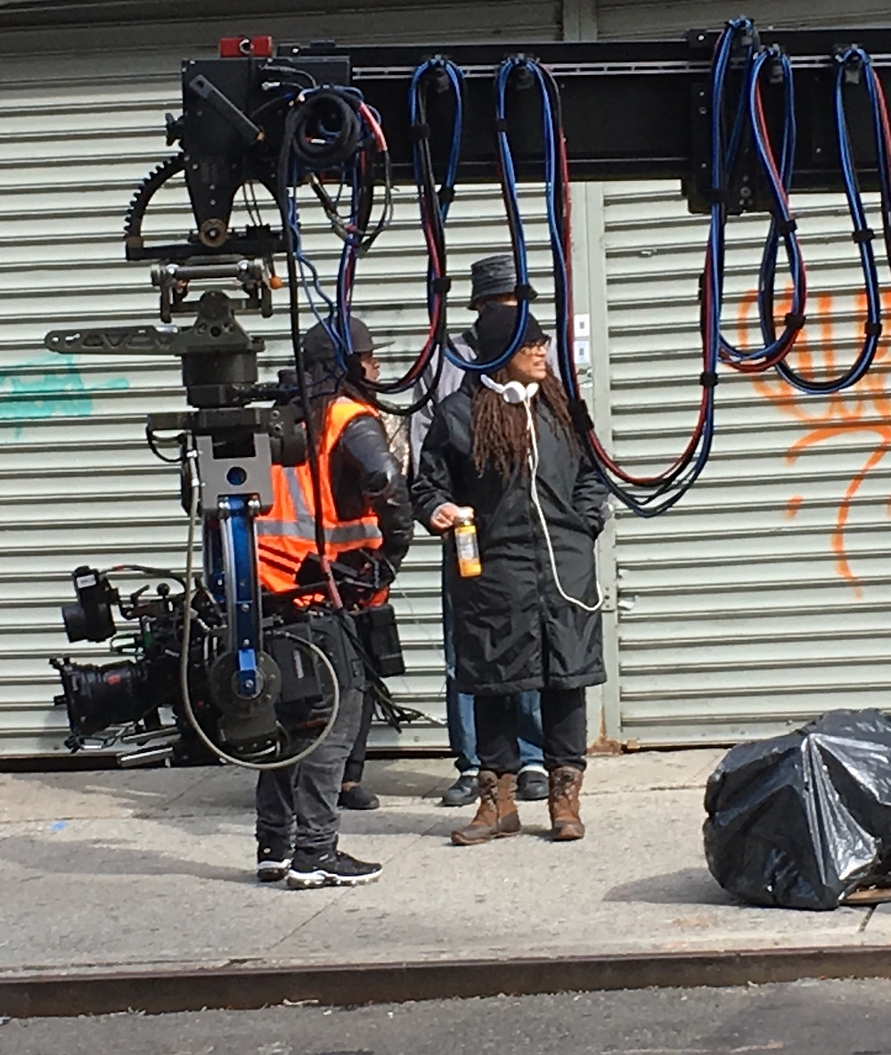Director Ava DuVernay filming the Netflix series When They See Us in West Harlem