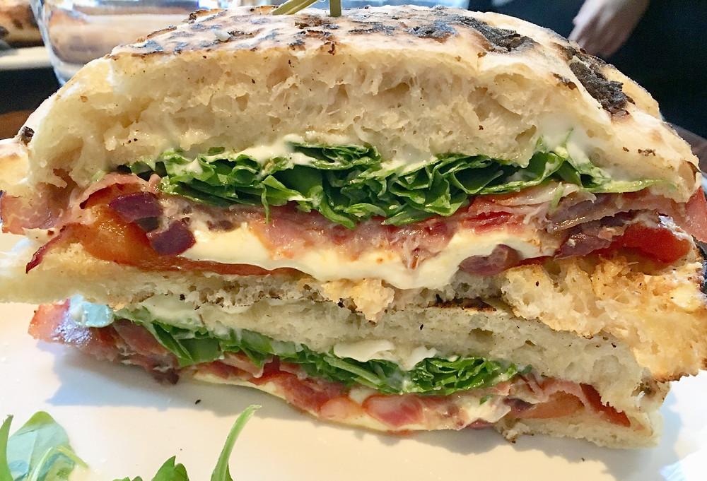 The Arturo pizza dough sandwich at Bar 314
