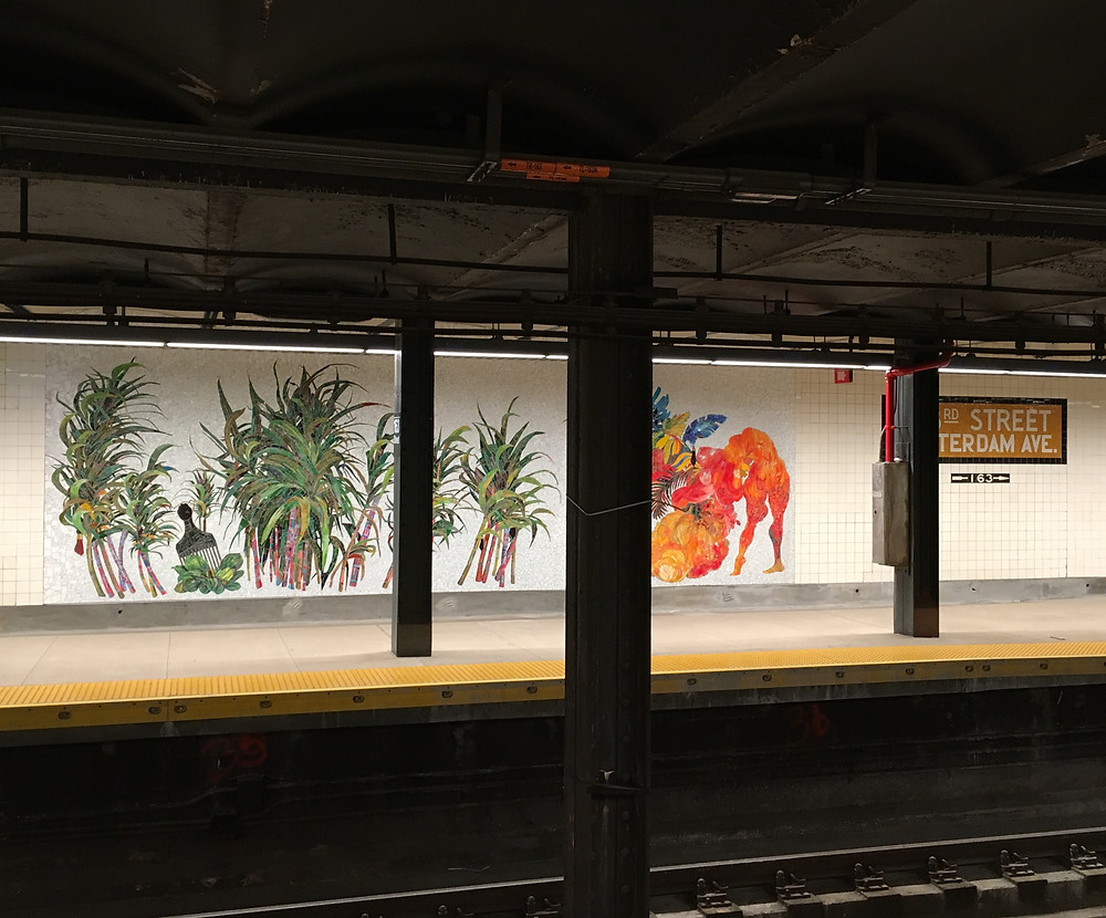 New mosaics by Firelei Báez at the renovated 163 St subway station