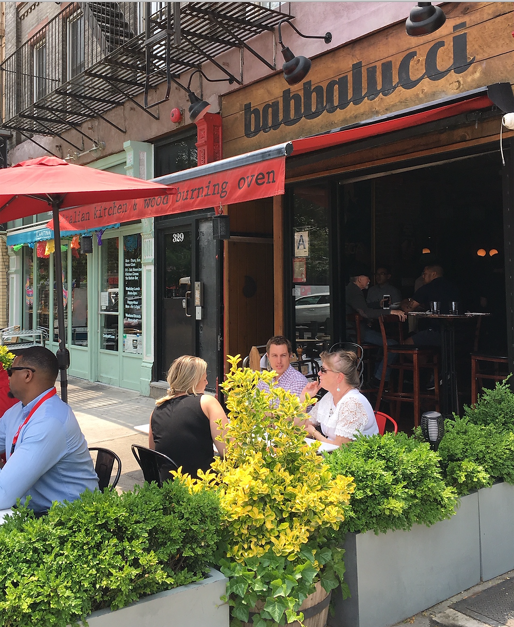 Eat authentic Italian pizza outdoors at Babbalucci in Harlem