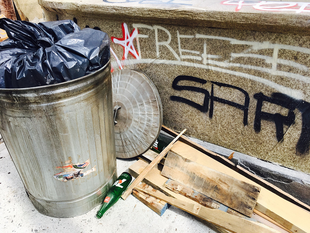 "'80s-era garbage and graffiti on the set of Ryan Murphy's upcoming TV series, ""Pose"""