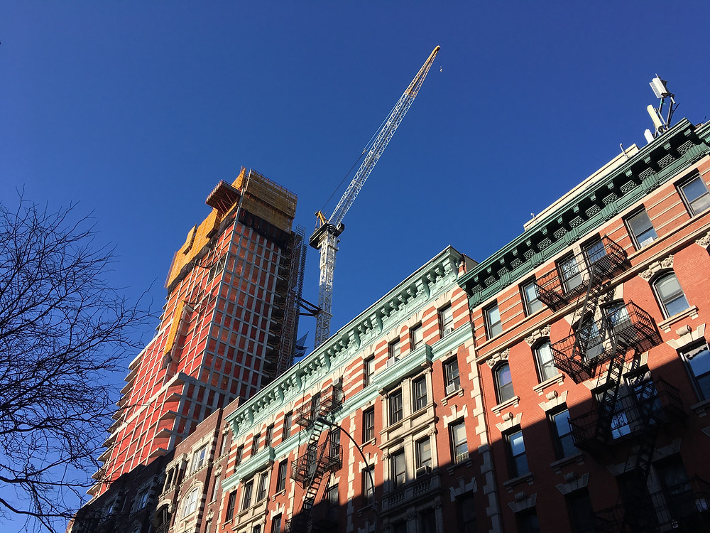 The 32-story Vandewater condo rises in Morningside Heights
