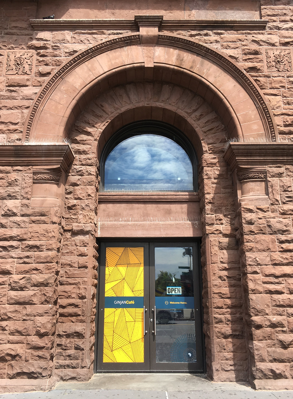 The Ginjan Cafe is a bright new spot in the historic Corn Exchange Building on East 125th Street