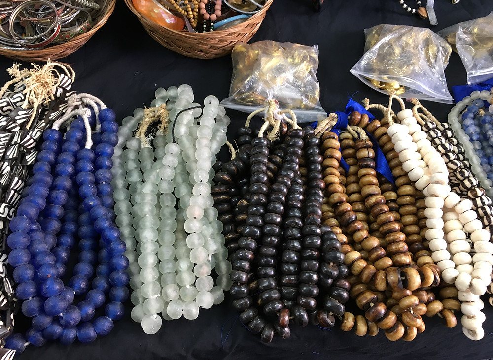 Beaded necklaces at Malcolm Shabazz Harlem Market
