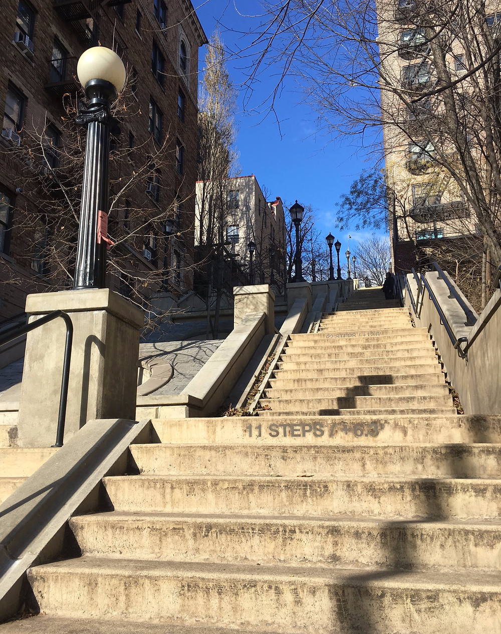 The 215th Street Steps are between Broadway and Park Terrace East in Inwood