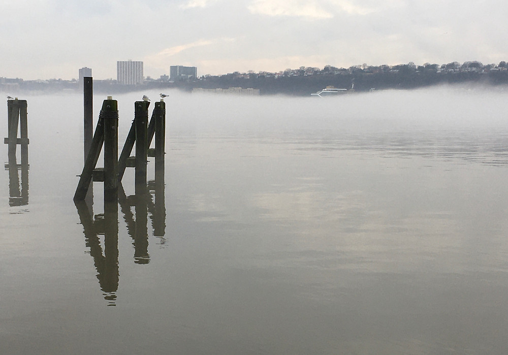 Yesterday's Hudson fog was magical (and very picture-worthy)