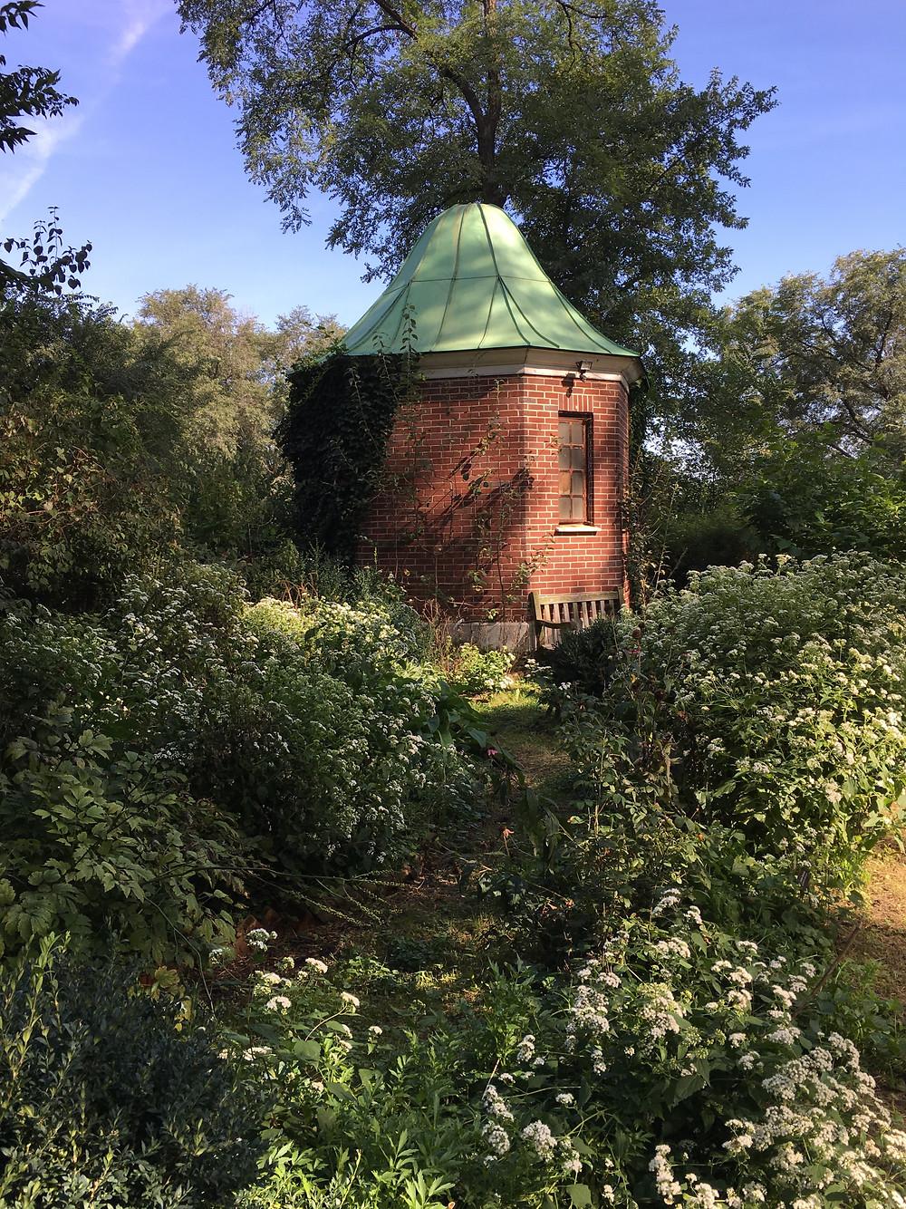 The romantic sunken garden at Roger Morris Park