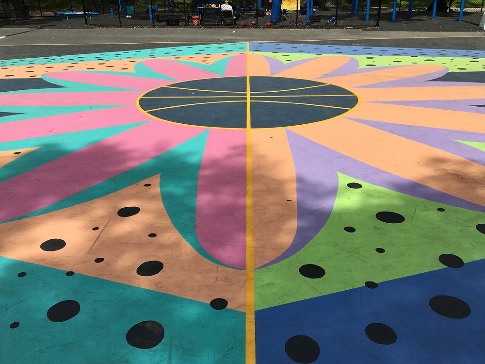 3 Harlem basketball courts double as canvases for fresh new art