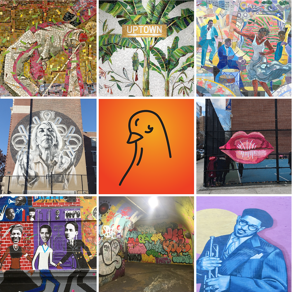 The Curious Uptowner created two curated lists of public art in Upper Manhattan on Art Pigeon