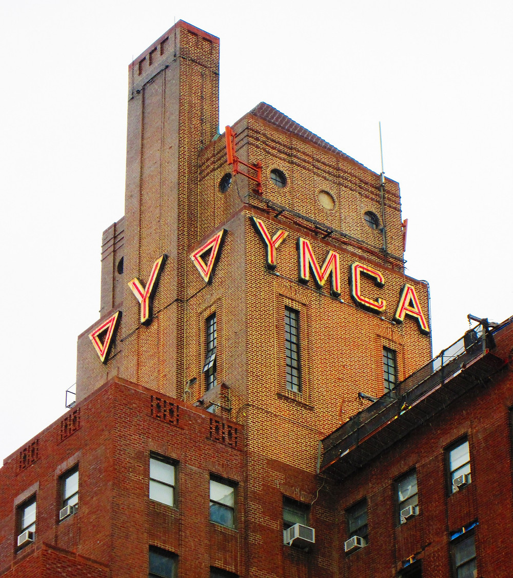 Harlem YMCA neon sign