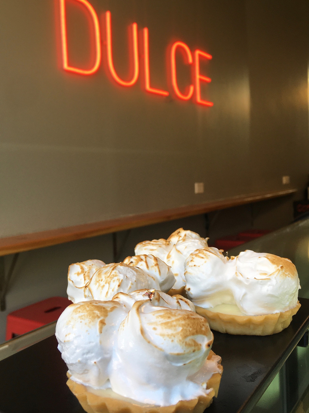 The lemon meringue tarts at Chilean pastry shop Dulceria in Harlem