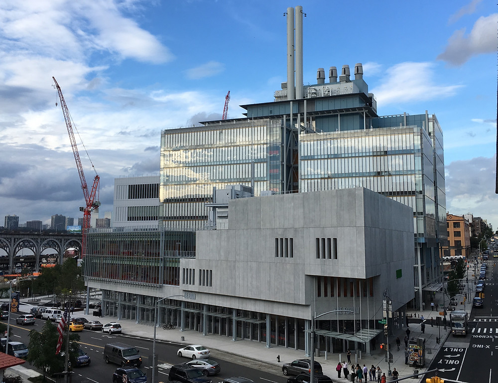 The Forum is the third building to rise on Columbia's Manhattanville campus