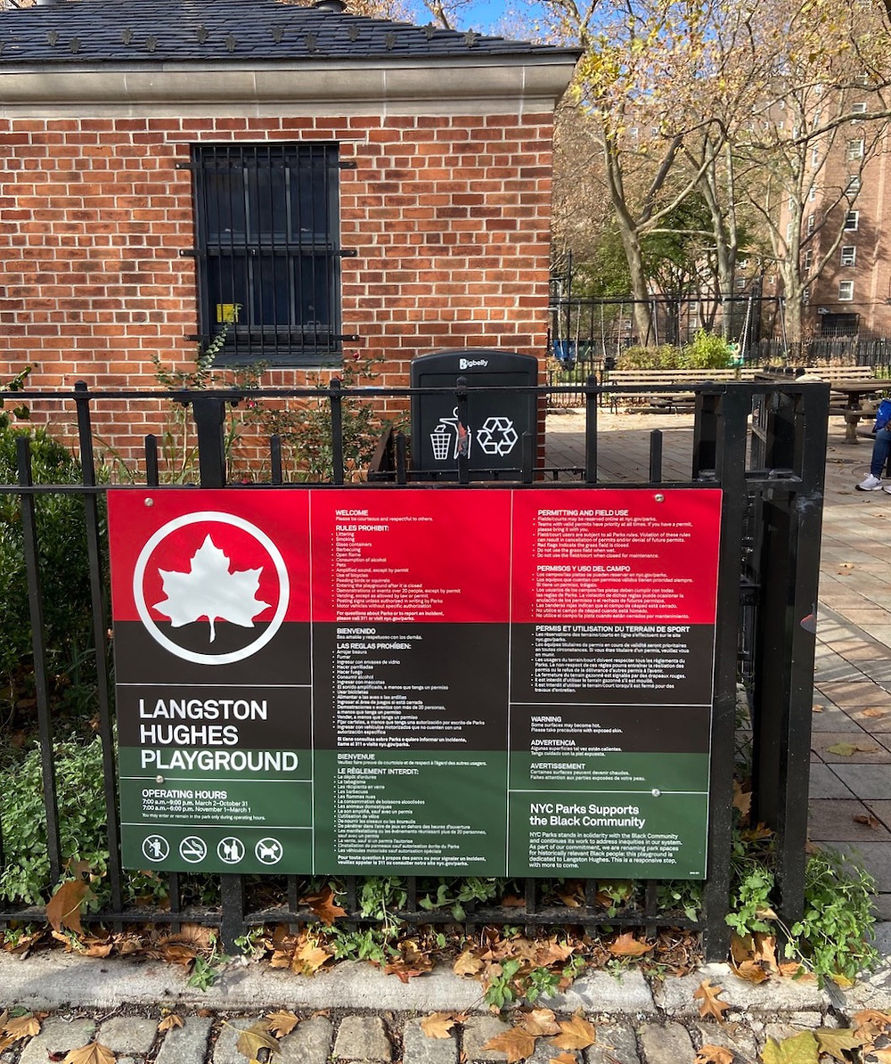 Harlem's renamed public places: Langton Hughes Playground