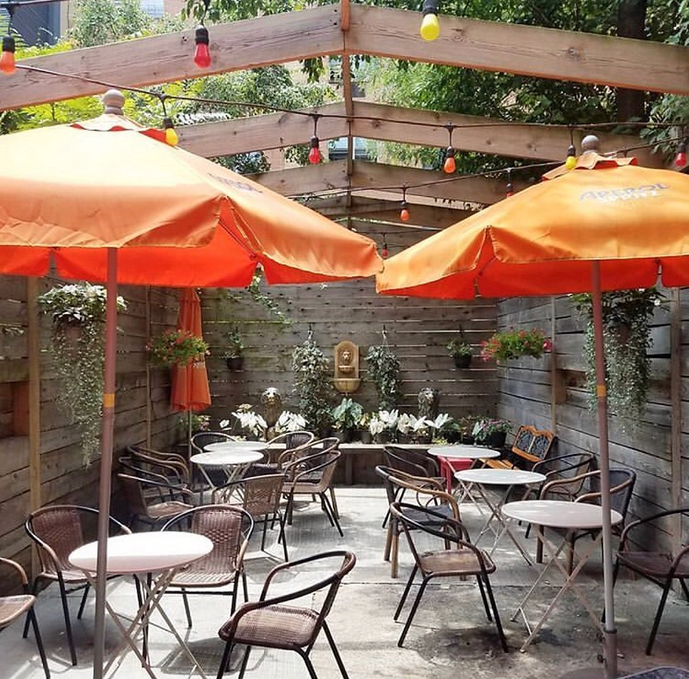 Lion Lion Bar's charming backyard patio
