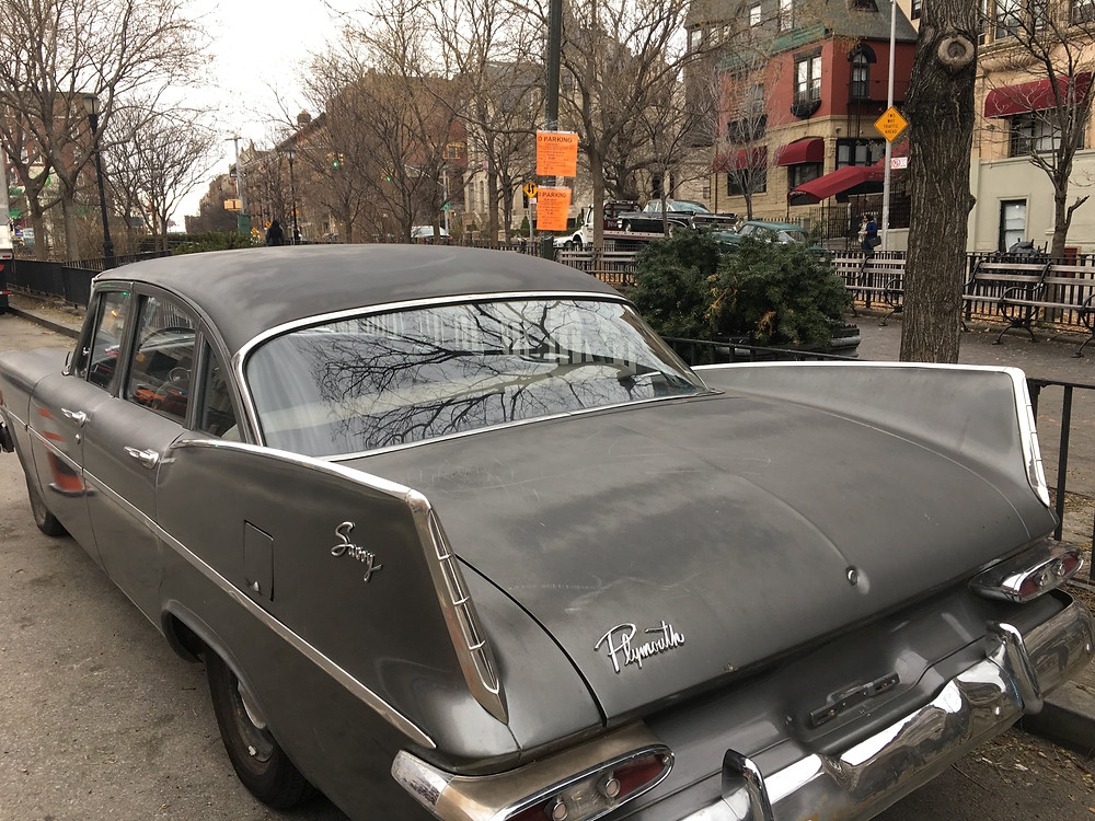Vintage cars on the set of Motherless Brooklyn in Harlem
