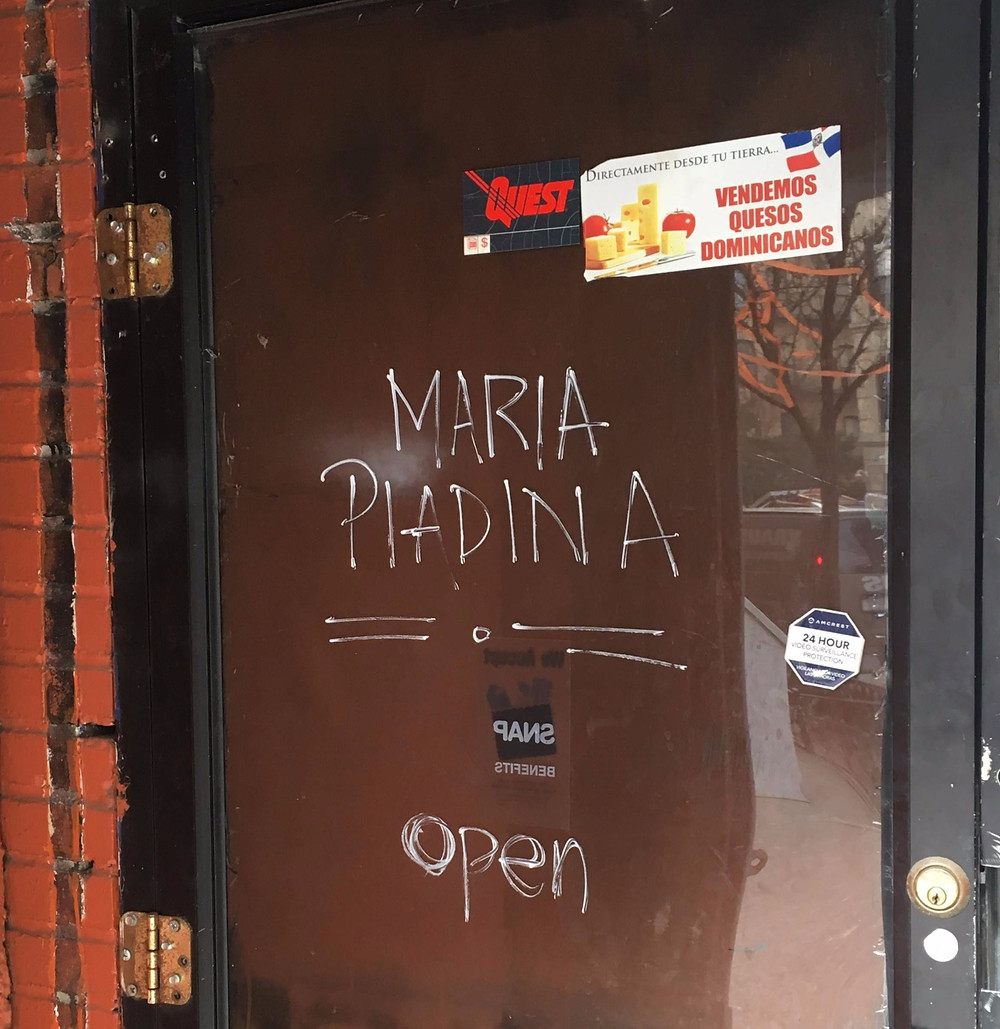 Maria Piadina, a new delivery-friendly Italian flatbread spot, opens in a tiny storefront in Hamilton Heights