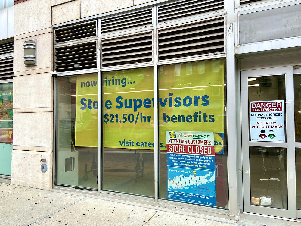 When is Lidl opening in Harlem?