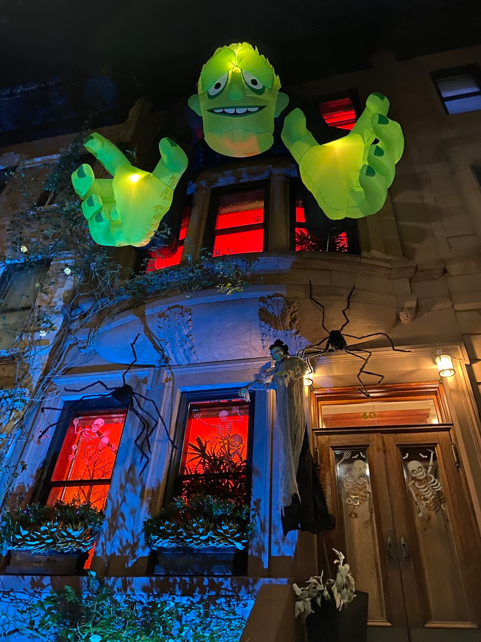 This beautiful Harlem street always has the best Halloween decorations