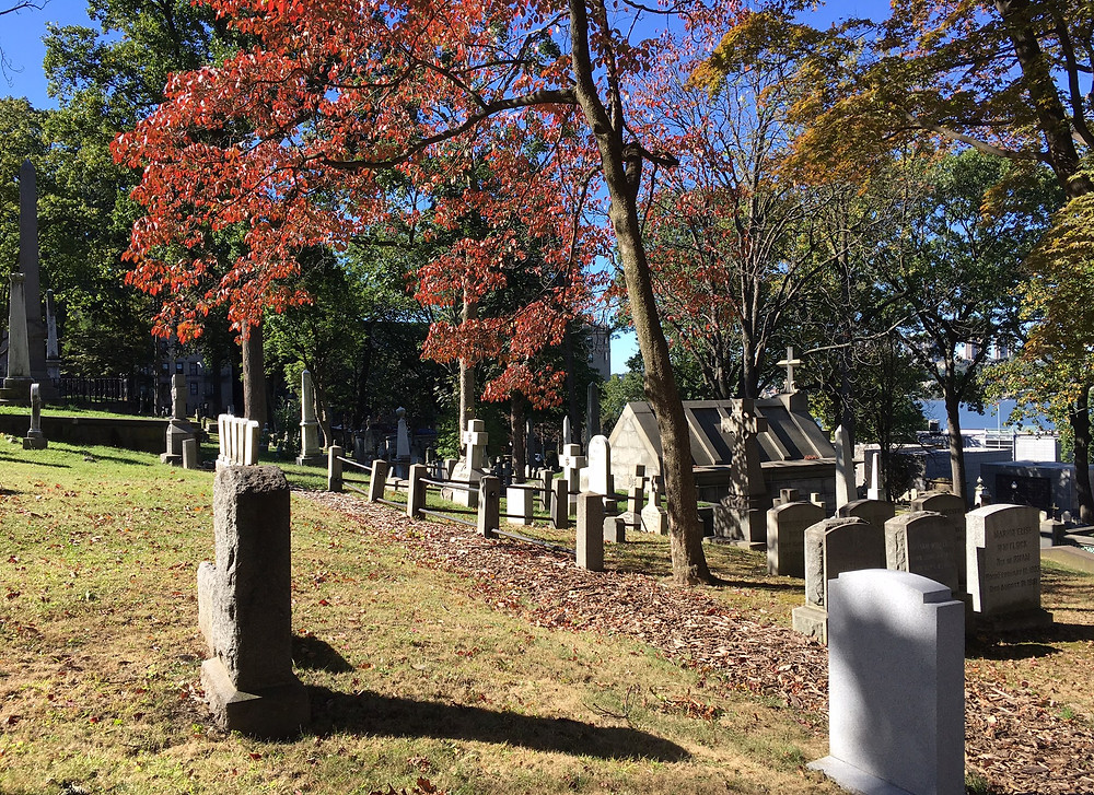Trinity Church cemetery in the fall