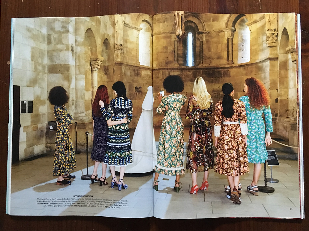 A Vogue shoot at the Met Cloisters